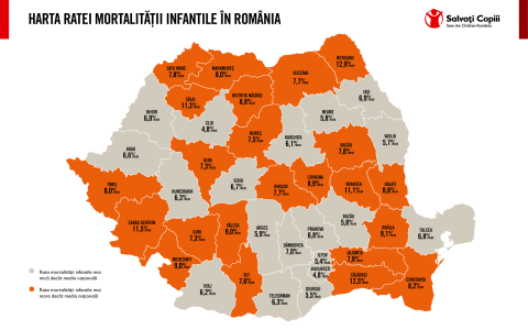 Rata moralitatii infantile in Romania