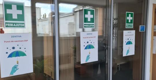 Zentiva facilitează vaccinarea angajaților, familiilor lor și a colaboratorilor prin crearea unui punct de vaccinare în fabrica Zentiva